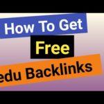 How To Get Edu Free Backlinks - Free Edu Backlinks 2019
