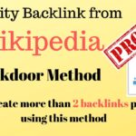 How to get backlinks from wikipedia [ BACKDOOR METHOD] with Proof