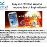 Tips to improve Search Engine ranking