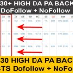 Best 30+ High DA PA Dofollow Backlink Sites List Free For SEO | Rank Your Website #1