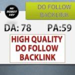 Get Do follow Backlink From DA:78 Website for Free | Do-Follow Backlink video Part 1