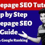 Homepage SEO Optimization - Step by Step Guide to Boost Homepage SEO & Google Ranking - Okey Ravi