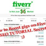 How to Boost gigs on fiverr trick SEO TUTORIAL Secret Tips