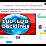 100 EDU Backlinks Manually Created From Big Universities List Inside Affordable Price On SEOClerks