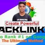 How To Create Backlinks | Make DoFollow BackLink on High DA PA Sites [Live]
