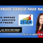 Improve Google Page Rank | Get The Best SEO Analysing Software Free