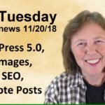 WordPress 5.0, Free Images, Boost SEO, Promote Your Posts - Tips Tuesday recap 11/20/18