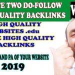 create high quality dofollow backlinks - create high quality dofollow backlink | high pa da sites