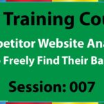 07 How to Analyze Competitor's Backlinks