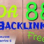 DA 88 dofollow backlink for free - Ampleom.com backlink series 6