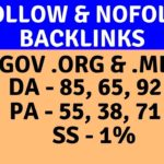 Dofollow backlinks & Nofollow backlinks from high authority .gov .org & .me website  2019 (Hindi)