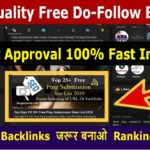 Free High Quality Do Follow Backlinks | SEO Link Building 2019 | Off Page SEO