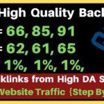 High Da Pa Backlinks   Create High Quality Backlinks from High DA Webistes   Boost Website Traffic