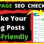 On-Page SEO Checklist: Make Your Blog Posts SEO-Friendly and Boost Post Ranking | BloggingQnA