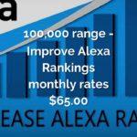 XGlobal Boost 360 - 100,000 range - Improve Alexa Rankings monthly rates