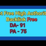 how to get high authority backlinks free   boost website
