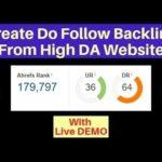 100% Do follow backlink from High DA website DA 64 in Hindi