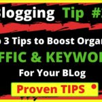 2. Top 3 Blogging Tips to Boost Organic Traffic and Keywords For your Blog | BloggingQnA