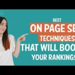 Best On Page SEO Techniques that'll Boost Your Rankings - On Page SEO Tutorial
