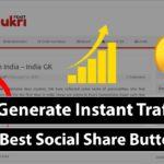 Boost Website Traffic | Best Social Share Buttons Job Website