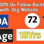 Get 100% Do-Follow Backlink With .Org Website : DA-72: Instant Approval : 18 Years Old Site :