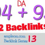 Get 2 High Authority Backlinks DA 94 + 93