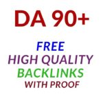 Get Free High Quality Backlinks - Domain Authority DA more than 90
