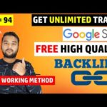 How To Create High Quality BACKLINKS from GOOGLE SITES (Off Page SEO) For FREE UNLIMITED TRAFFIC