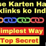 How To Index Backlinks - Top Secret [in Hindi]