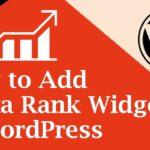 How to Add Alexa Rank Widget to WordPress [Hindi / Urdu]