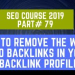 How to remove the worst SEO backlinks in your backlink profile | SEO Course 2019 Part# 79