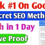 Rank #1 On Google Easily Secret SEO Tips