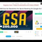 200,000 Gsa Ser Backlinks For Quick Ranking On Google for $1 On SEOClerks