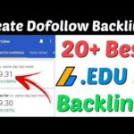 20+ High Quality .Edu Site List For Backlinks | Instant Approval Backlinks | Dofollow Backlinks 2020