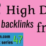 3 High DA 75 backlinks free: Ampleom backlink series 47