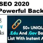 Get High DA Edu & Gov Dofollow Backlinks 2020🔥 | SEO Link Building 2020