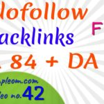 Get free dofollow backlinks DA 84: video no. 42