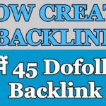 How To Create Backlink Free DoFollow BackLink
