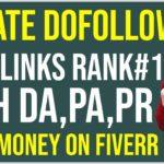 How To Create Dofollow Backlinks Rank Website On Google | Earn Money From Fiverr | Online Info Lab