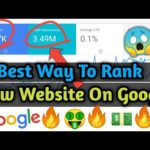 How To Rank New Website on Google's First Page Without Backlinks 2020