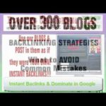 SEO Backlink Building Blog Network Service To Improve Rankings & Traffic  (part 1)
