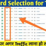 Select Best Keywords for Your Artical and Increase Your Website Traffic
