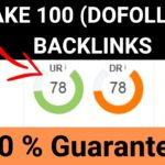 DoFollow Backlinks: Make 100 Dofollow backlinks IN HINDI |Backlink Maker Tool|