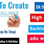 Dofollow Backlinks in 2020 | Unlimited High Quality Backlinks from .edu & .gov site ||