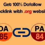 Get 100% Dofollow backlink with  org website DA - 85