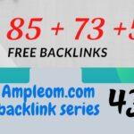 Get 4 free dofollow backlinks DA 85: Ampleom.com backlink series