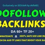 Get Backlinks for your Website - dofollow backlinks 2020