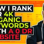 How I Rank For 4k Organic Keywords With a 0 DR Website