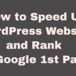 Speed up WordPress Site Tutorials Boost Your Website Speed 70% By Knowhow Chief