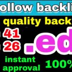 high quality do follow commenting instant indexing backlinks 2020